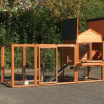 Chicken coop Prestige Medium with large doors and hinged roof