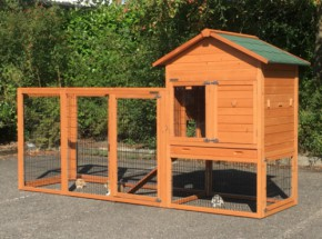 Rabbit hutch Prestige Medium with run Functional