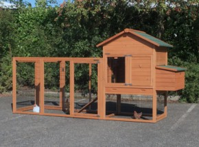 Chicken coop Prestige Medium with run Functional and laying nest 303x90x150cm