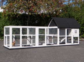 Rabbit hutch Kathedraal Large with runs and foundations 416x150x157cm