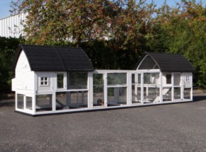 Chicken coop Kathedraal Luxe - XL with added runs and foundations 572x150x157cm