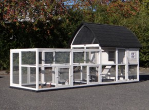Rabbit hutch Cathedral XL with added runs and foundations 397x174x181cm