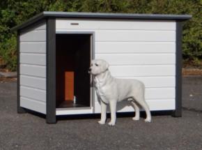Doghouse Loebas white / grey