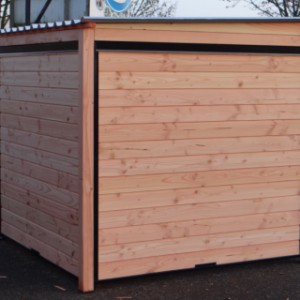 Dog kennel Forz 3x2 of Douglas wood and black panels