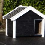 Doghouse Reno black/white for Shepherd dogs