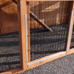 Hen house with ramp