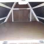 Storage  loft in hen house Pip