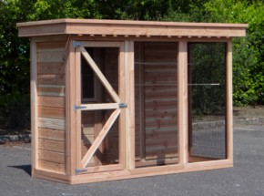 Bird aviary 3.1 with safety porch and sleeping compartment