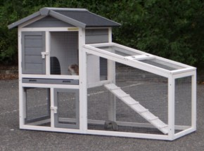 Rabbit hutch Cato White-Grey