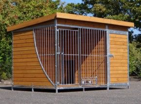 Heavy Dogkennel with feeders