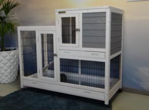 Rabbit cage Esmee White-Grey