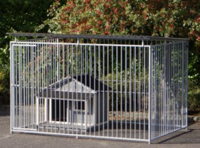 Dog kennel Flinq with doghouse Wooff