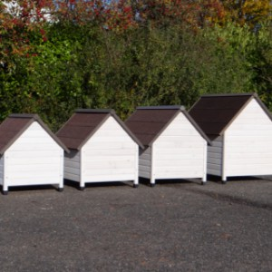 Backside of the different sizes Private doghouses