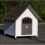 Doghouse Private 4 of wood, for dogs like the Border Collie