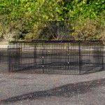 Rabbit enclosure Maik | Black meshcage | Large doors