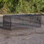 Rabbit run Maik | Black mesh cage | 123x80x47cm