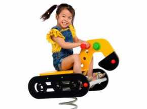 Spring rider excavator for your children