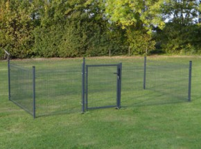 Chicken fence Rectangle Antraciet 5x2,5 m.