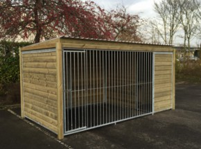 Dog kennel Forz 2x4 with wooden frame and insulated doghouse