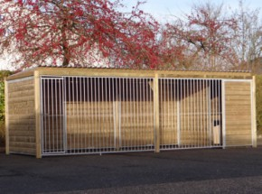 Dog kennel Forz 2x6 with doghouse and platform