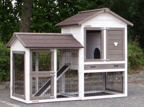 Rabbit hutch Prestige Small White with run at the left