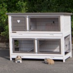 Advantagious rabbit hutch with drawer