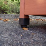 Adjustable plastic feet