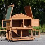 Rabbit hutch with spacious doors