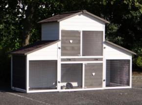 Rabbit house Annemieke XL with run 245x100x155cm