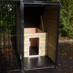 Kennel FIX black with doghouse