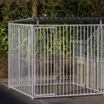 Strong dog kennel with doghouse