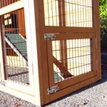 Rabbit hutch with ramp