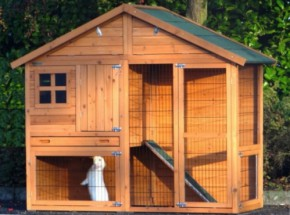 Large rabbit hutch Holiday Medium with anti-chewy