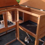 Angle rabbit hutch