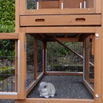 Underrun rabbit hutch