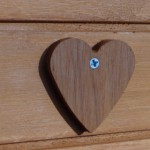 Wooden heart on the chicken house