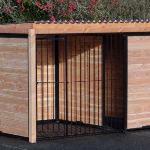 Dogkennel FORZ black with roof