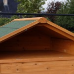 Chicken run with practical loft for storage