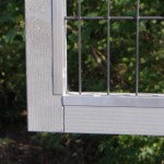 Protection strips rabbit hutch