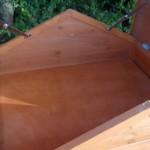 Storage in the roof of the chicken coop