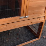 Chicken coop with plastic drawer