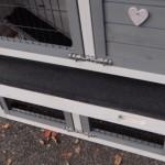 Deep plastic drawer rabbit hutch