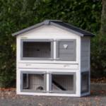 White / Grey rabbit hutch