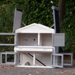 Rabbit hutch with a lot of doors