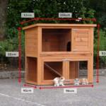 Dimensions rabbit hutch Basic