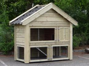 Rabbit hutch Sjoerd 182x88x168cm