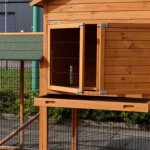 Rabbit hutch with practical drawer