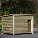 Extraordinary decent and striking doghouse for outside