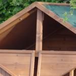 Chicken coop with loft