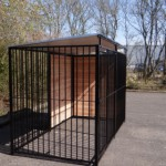 Dogkennel FERM Black with roof 1,5 x 3m